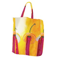 Three Red Chili Peppers Giant Grocery Tote by FunnyCow