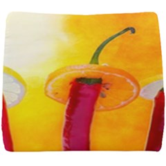 Three Red Chili Peppers Seat Cushion by FunnyCow