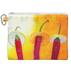 Three Red Chili Peppers Canvas Cosmetic Bag (xxl) by FunnyCow