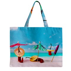 Red Chili Peppers On The Beach Medium Tote Bag by FunnyCow