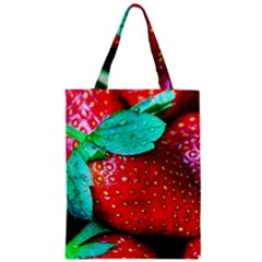 Red Strawberries Classic Tote Bag by FunnyCow