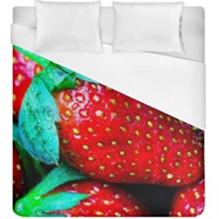 Red Strawberries Duvet Cover (king Size) by FunnyCow