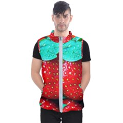Red Strawberries Men s Puffer Vest
