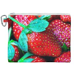 Red Strawberries Canvas Cosmetic Bag (xxl) by FunnyCow