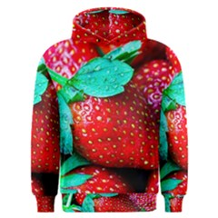 Red Strawberries Men s Overhead Hoodie by FunnyCow