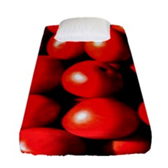 Pile Of Red Tomatoes Fitted Sheet (single Size) by FunnyCow