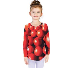 Pile Of Red Tomatoes Kids  Long Sleeve Tee