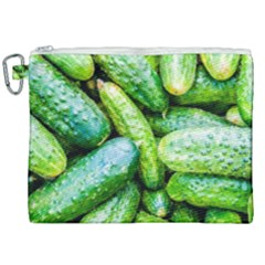 Pile Of Green Cucumbers Canvas Cosmetic Bag (xxl) by FunnyCow