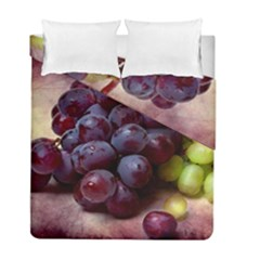 Red And Green Grapes Duvet Cover Double Side (full/ Double Size) by FunnyCow