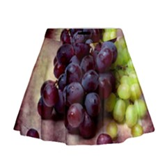 Red And Green Grapes Mini Flare Skirt