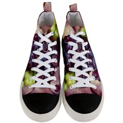 Red And Green Grapes Men s Mid Top Canvas Sneakers