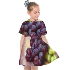Red And Green Grapes Kids  Sailor Dress