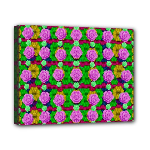 Roses And Other Flowers Love Harmony Canvas 10  X 8  (stretched) by pepitasart