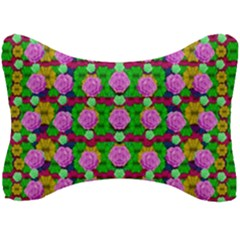 Roses And Other Flowers Love Harmony Seat Head Rest Cushion by pepitasart