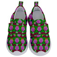 Roses And Other Flowers Love Harmony Velcro Strap Shoes