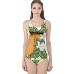 Orange Blossoms One Piece Swimsuit