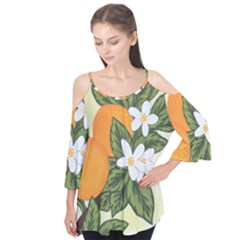Orange Blossoms Flutter Tees