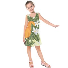 Orange Blossoms Kids  Sleeveless Dress