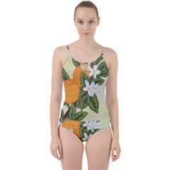 Orange Blossoms Cut Out Top Tankini Set