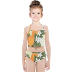 Orange Blossoms Girls  Tankini Swimsuit