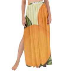 Orange Blossoms Maxi Chiffon Tie Up Sarong