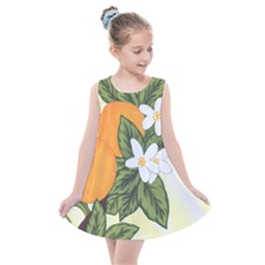 Orange Blossoms Kids  Summer Dress