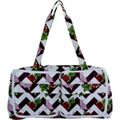 Cat Rose Chevron Multi Function Bag