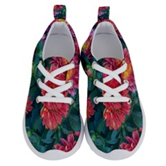 Warm Fall Mums Running Shoes by bloomingvinedesign