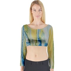 Caribbean Long Sleeve Crop Top