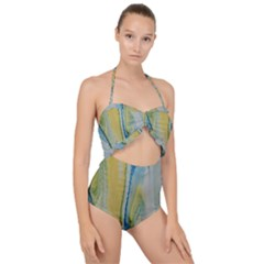 Caribbean Scallop Top Cut Out Swimsuit