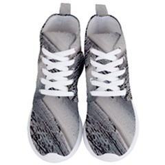 Black And White Women s Lightweight High Top Sneakers