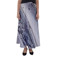 Black And White Flared Maxi Skirt