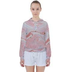 Pink Clouds Women s Tie Up Sweat