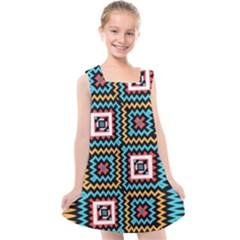 Shapes On A Black Background                                       Kids  Cross Back Dress
