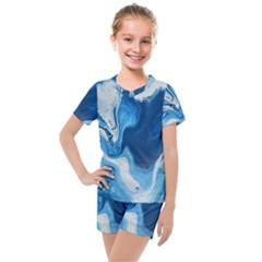 Cobalt Kids  Mesh Tee And Shorts Set