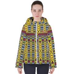 Shapes Rows                                         Women s Hooded Puffer Jacket
