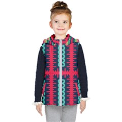 Waves In Retro Colors                                      Kid s Puffer Vest by LalyLauraFLM