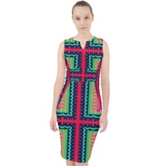Waves In Retro Colors                                              Midi Bodycon Dress