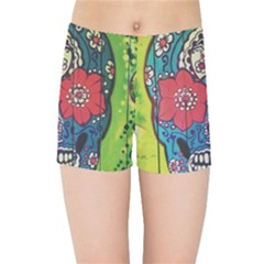 Mexican Skull Kids Sports Shorts