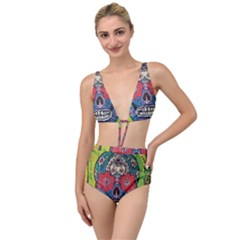 Mexican Skull Tied Up Two Piece Swimsuit