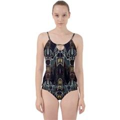 Urban Industrial Rust Grunge Cut Out Top Tankini Set