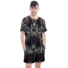 Urban Industrial Rust Grunge Men s Mesh Tee and Shorts Set