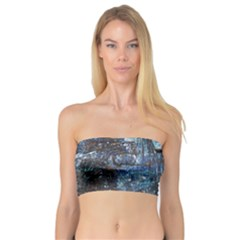 Angel Wings Blue Grunge Texture Bandeau Top by CrypticFragmentsDesign