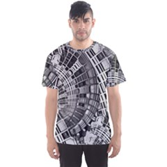 Semi Circles Abstract Geometric Modern Art Men s Sports Mesh Tee by CrypticFragmentsDesign