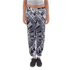 Semi Circles Abstract Geometric Modern Art Women s Jogger Sweatpants by CrypticFragmentsDesign