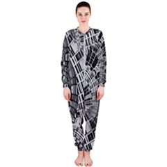 Semi Circles Abstract Geometric Modern Art Onepiece Jumpsuit (ladies)  by CrypticFragmentsDesign
