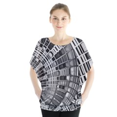 Semi Circles Abstract Geometric Modern Art Blouse by CrypticFragmentsDesign