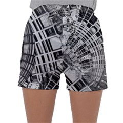 Semi Circles Abstract Geometric Modern Art Sleepwear Shorts by CrypticFragmentsDesign