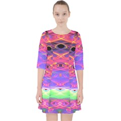 Neon Night Dance Party Pink Purple Pocket Dress by CrypticFragmentsDesign