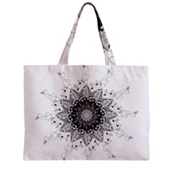 Mandala Misic Zipper Mini Tote Bag by alllovelyideas